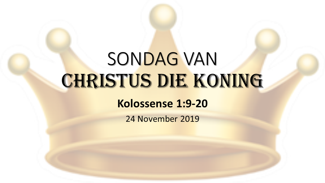 Sondag van Christus die Koning